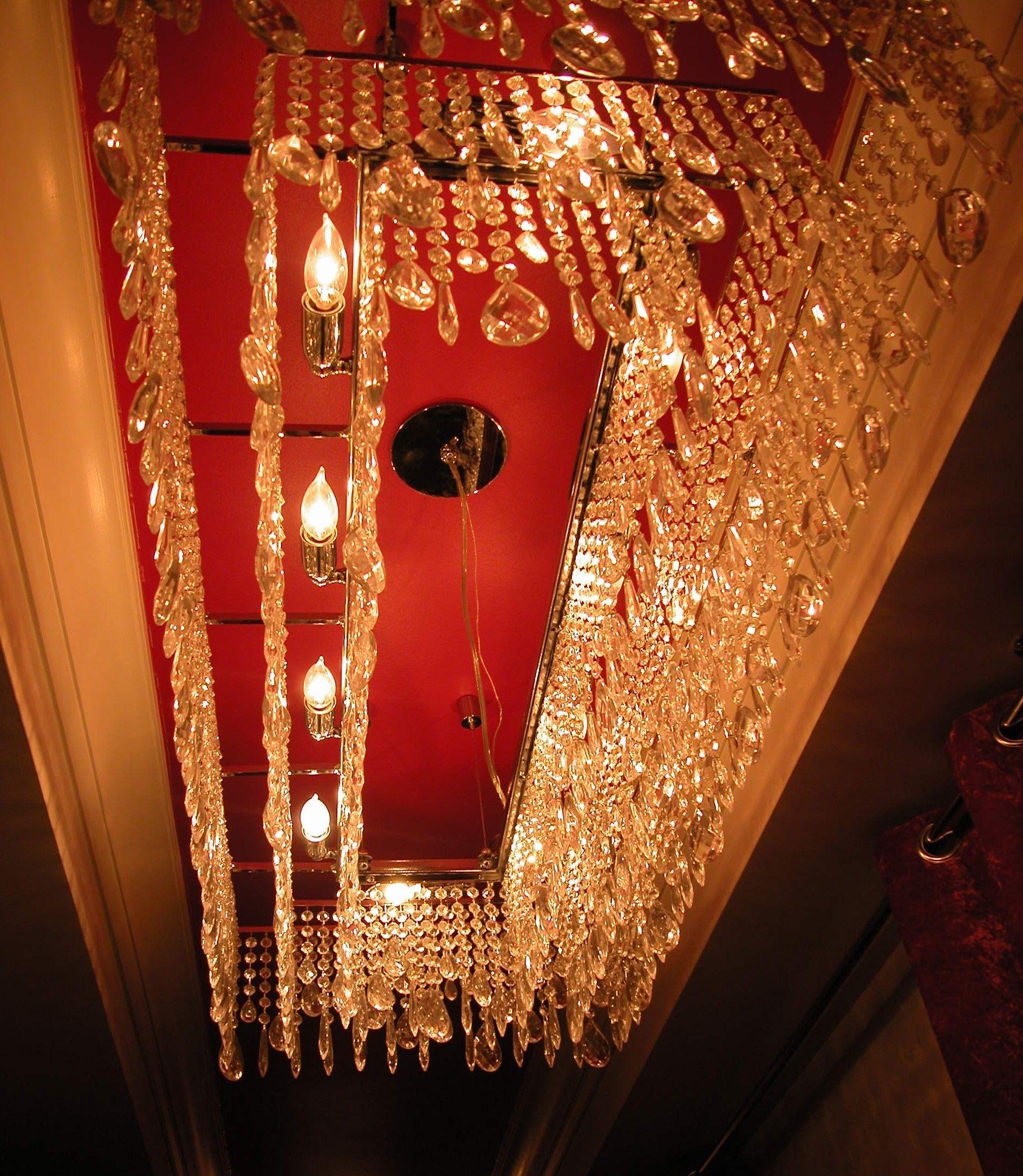 Wonderful chandelier inside The Mansion on Forsyth in Savannah