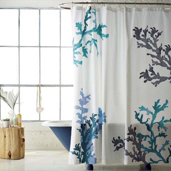 Marvelous Bathroom. Coral Shower CurtainsEclectic ...
