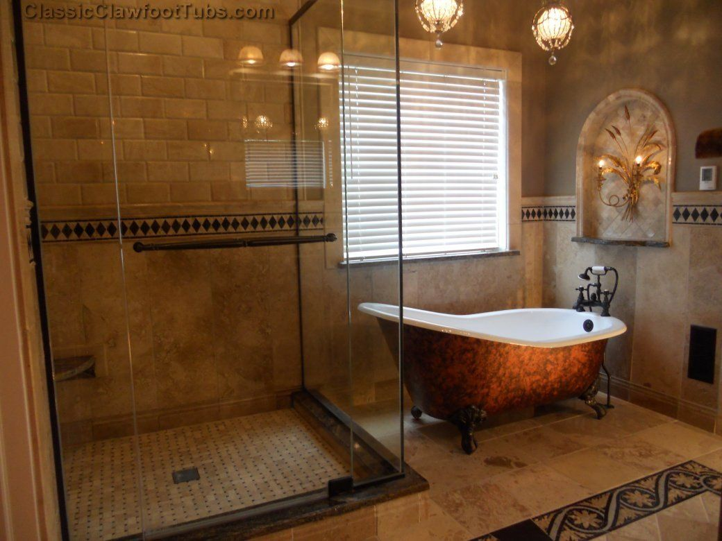 bathroom image of large clawfoot bathtub - Clawfoot Tub Bathroom Designs