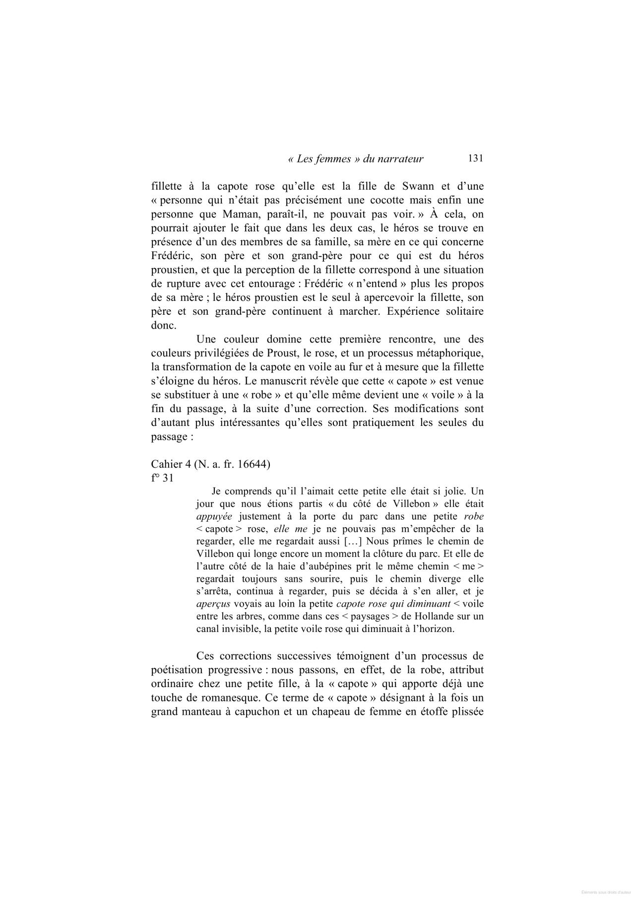"""Cote De Villebon coté du villebon"""" proust et flaubert: un secret d'écriture"""