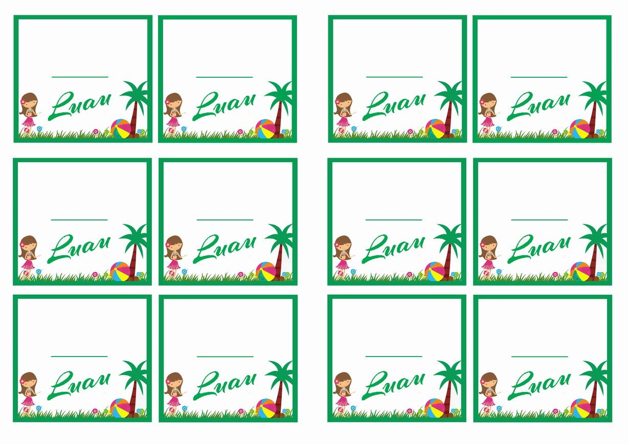 Tropical Themed Party Ideas Free Printables: FREE Printable Luau Themed Name Tags