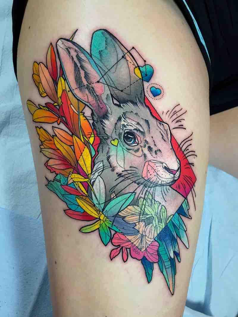 The Best Rabbit Tattoos in 2020 Rabbit tattoos, Full