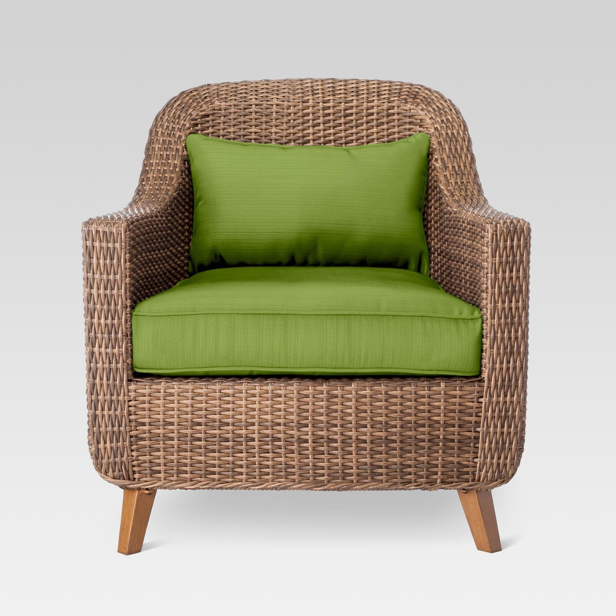 d4c7db128af Mayhew All Weather Wicker Patio Club Chair Green - Threshold