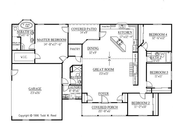 House Plan 286-00031 - Ranch Plan: 2,148 Square Feet, 4 ... on ranch house plans with wrap, ranch house with double front door, ranch style house plans, ranch house front entrance, ranch style modular home plans,