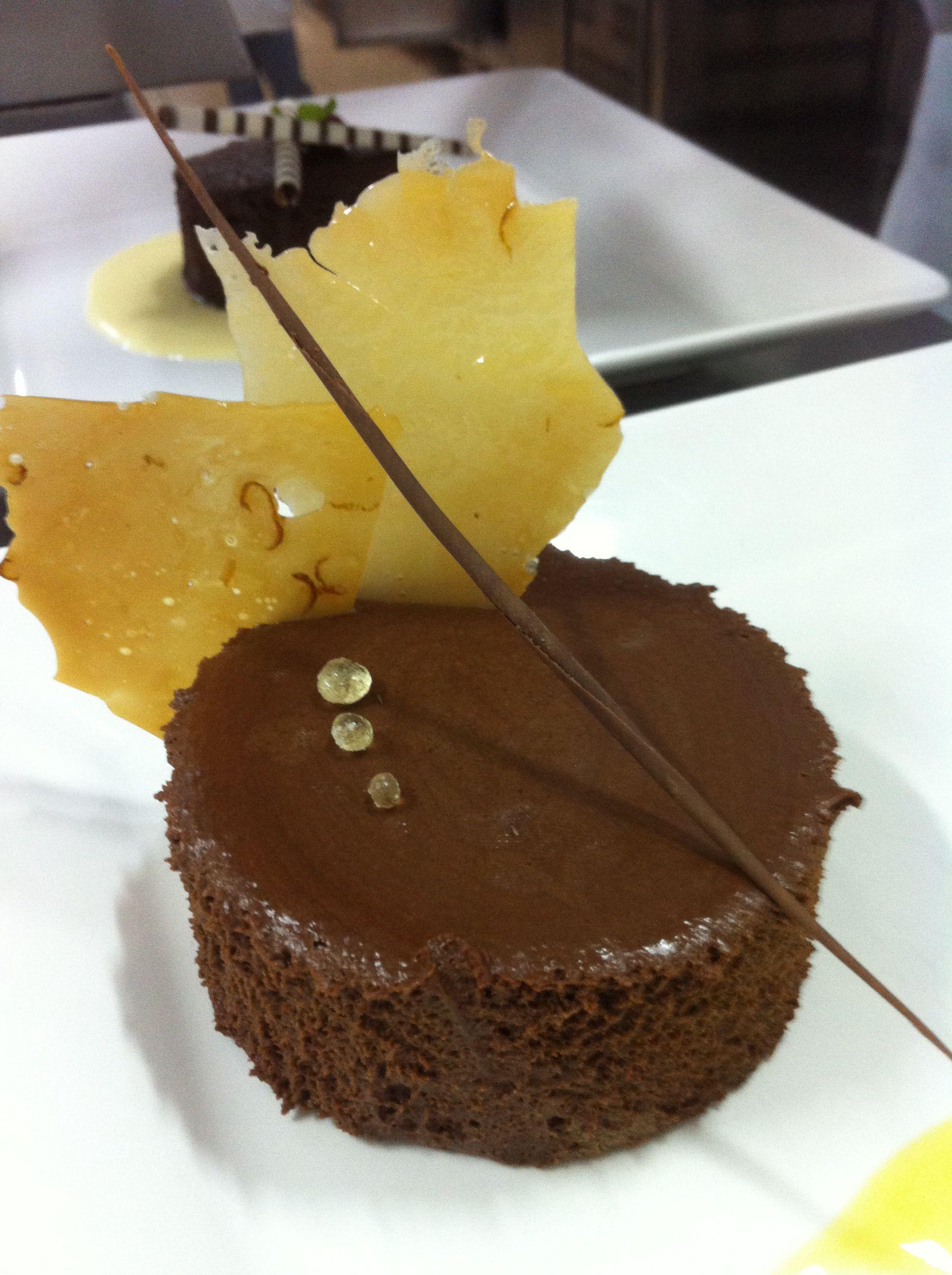 Mousse de chocolate e contreau
