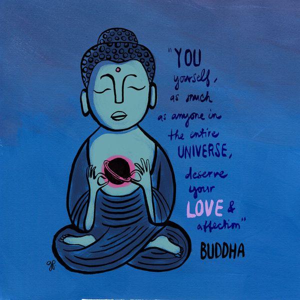 Buddha Quote Art Print Universe Ink Gouache Hand Lettering Type Love Art Prints Quotes Buddha Buddha Art