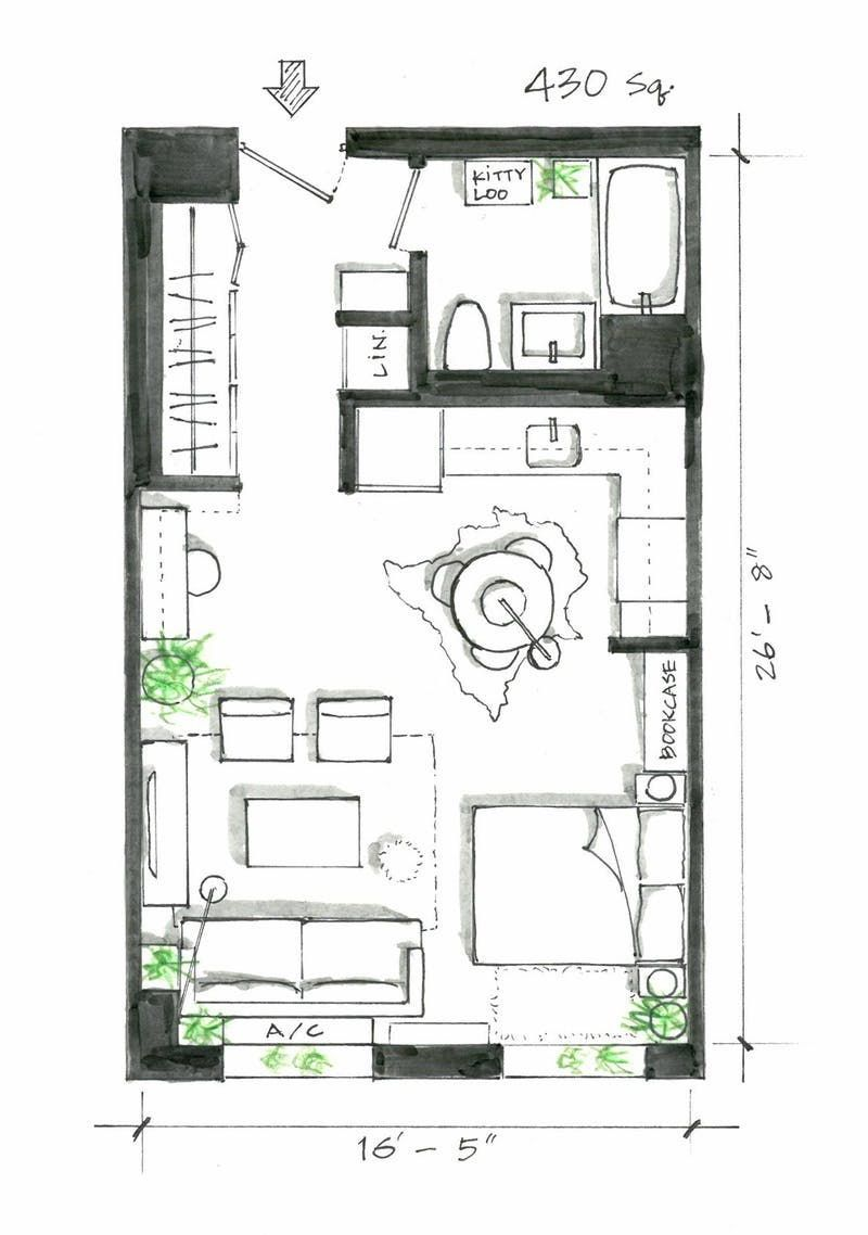 Exclusive Image Of Small Apartment Plans Layout 5 Smart Studio Layouts That Work Wonders For One Room Living