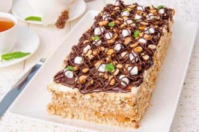 Торт Воздушный Сникерс – 5 пошаговых рецептов с фото в ...