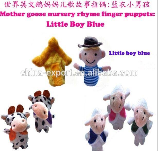 Mother Goose Nursery Rhyme Finger Puppets Little Boy Blue