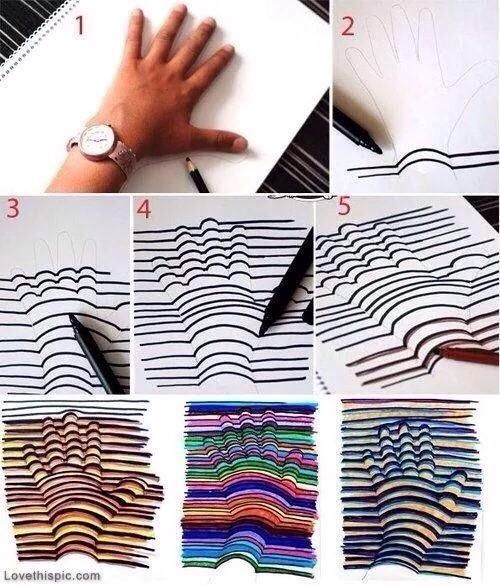 How To Draw This Cool 3D Design