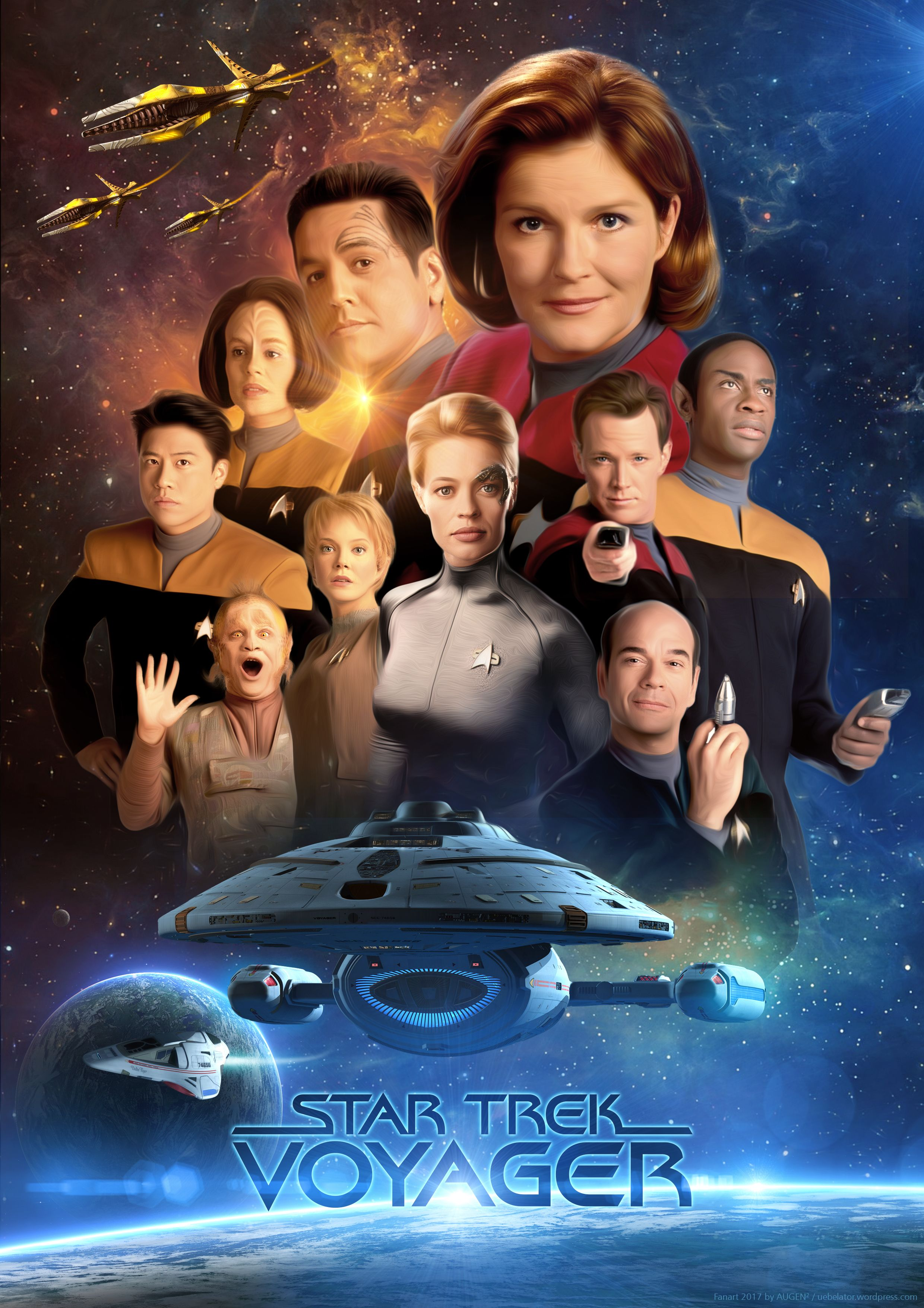 Star Trek Voyager Fanart Poster Fanart Movieposters And More