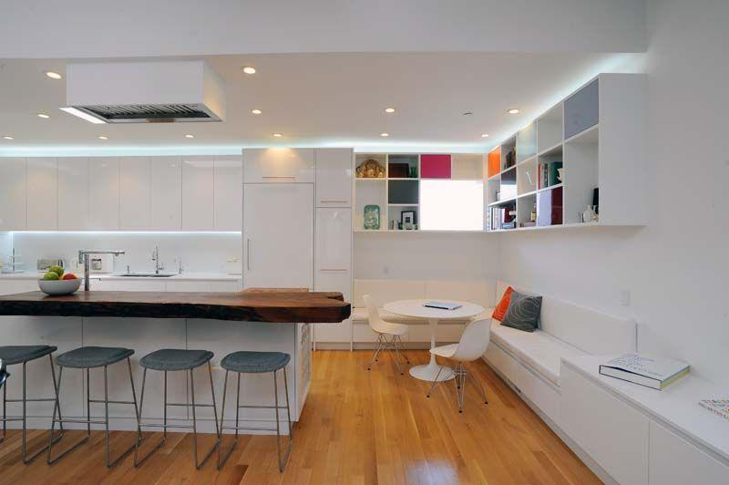 Modern Breakfast Nook - Devlin/McNally Construction Kitchen - Led Einbauleuchten Küche