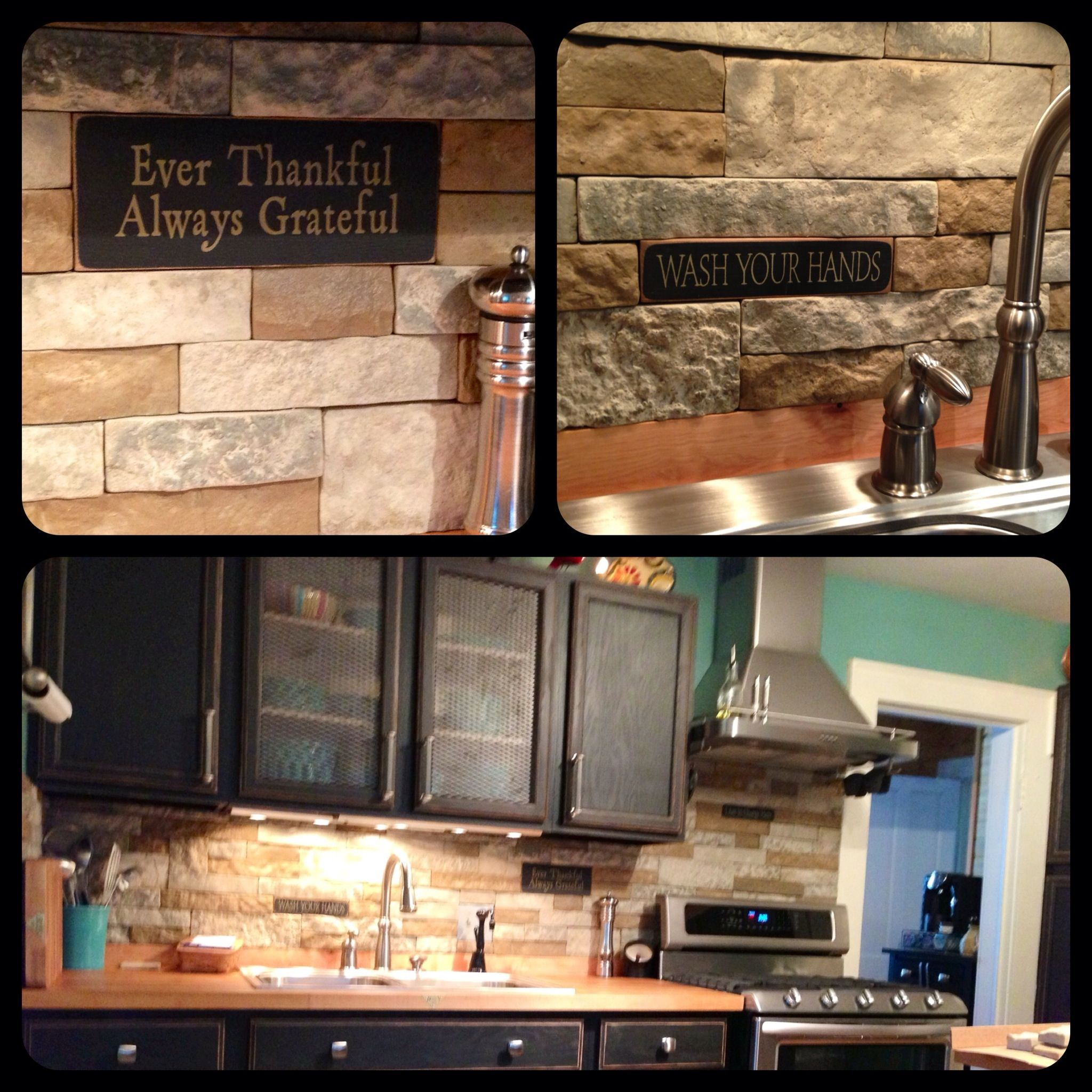 New stack stone backsplash. AirStone at Lowes | back splash ...