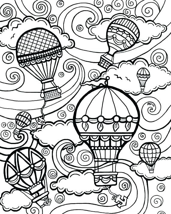 Coloring Coloring Pages Hot Air Balloon Colouring Page Free Coloring Pages Steampunk Coloring Free Coloring Pages