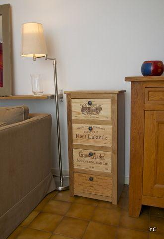 Chiffonnier fait de caisses de vin Meubles et déco (recyclage