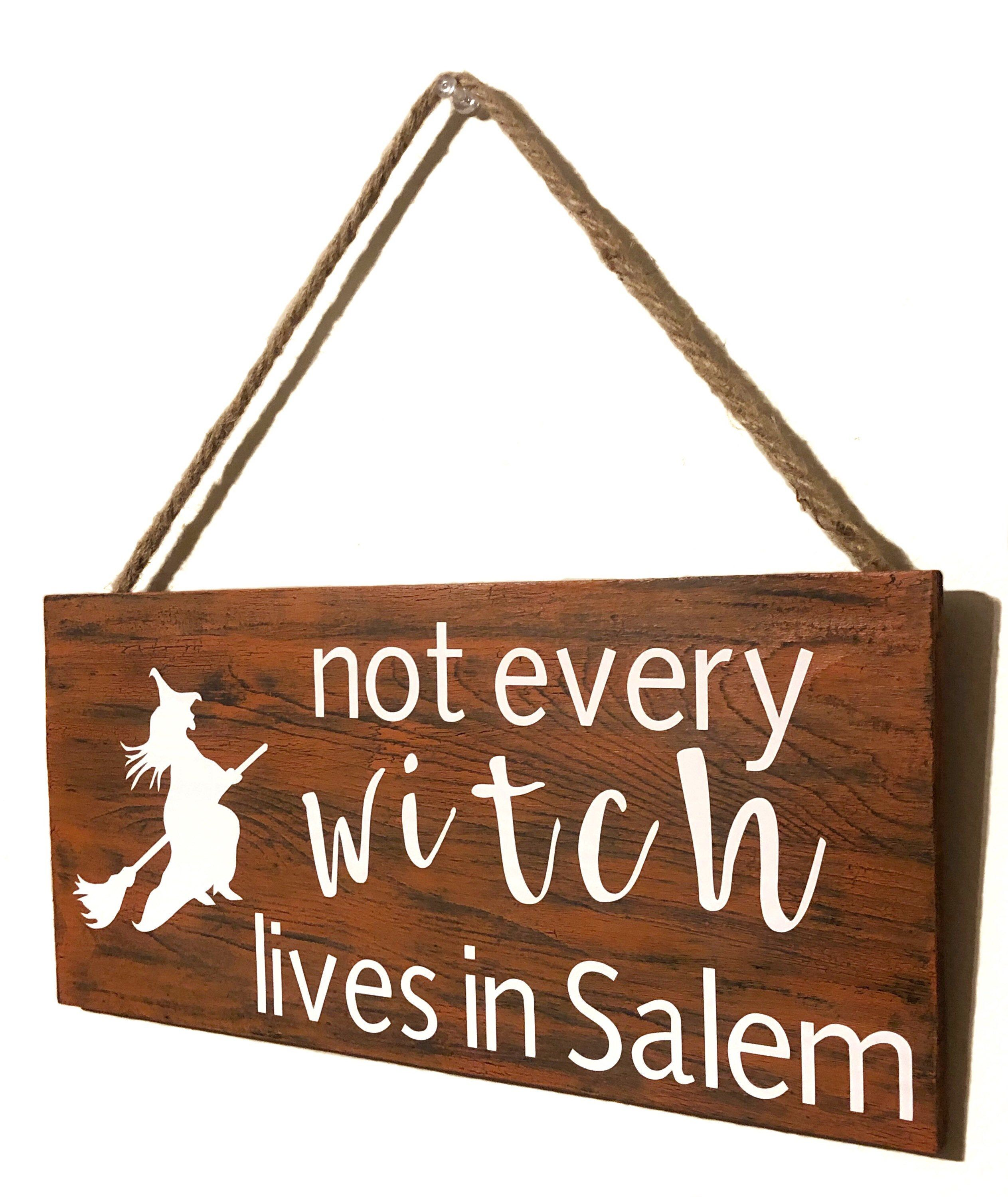 Excited to share this item from my #etsy shop: Not every witch lives in Salem, halloween, halloween sign, halloween decoration, witch, halloween decor, funny Halloween, Salem, witch sign