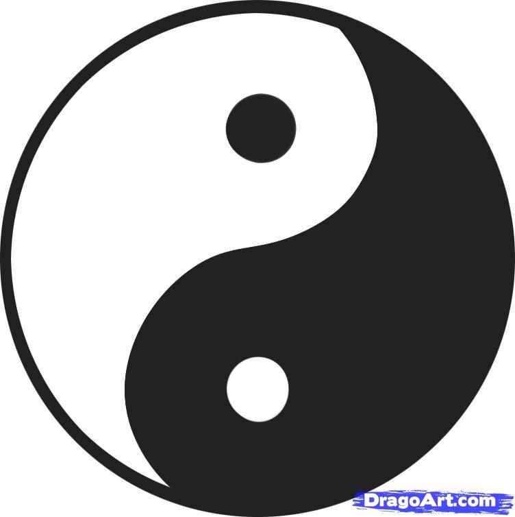 How To Draw A Yin Yang Yin Yang Step By Step Symbols Pop