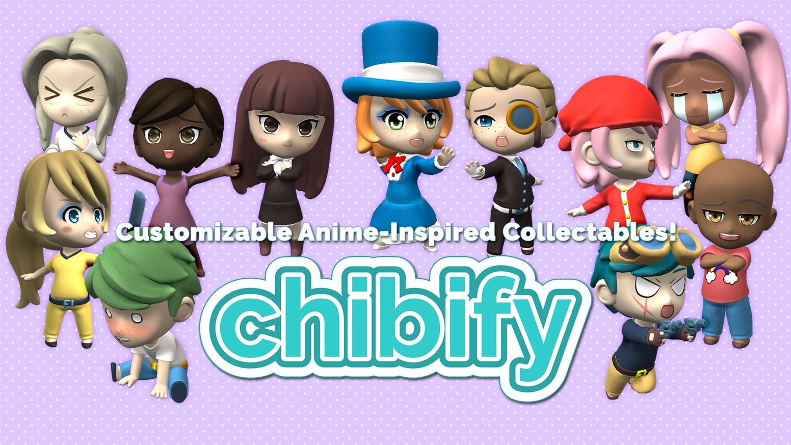 Design custom anime collectibles in chibi style create