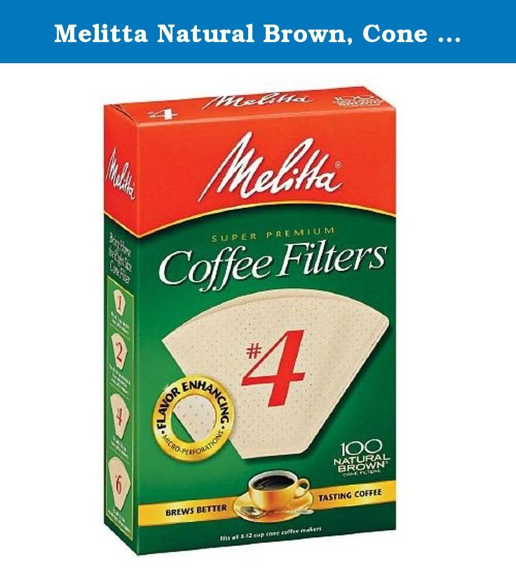 Melitta Natural Brown, Cone Coffee Filters 4 100 Ea (1