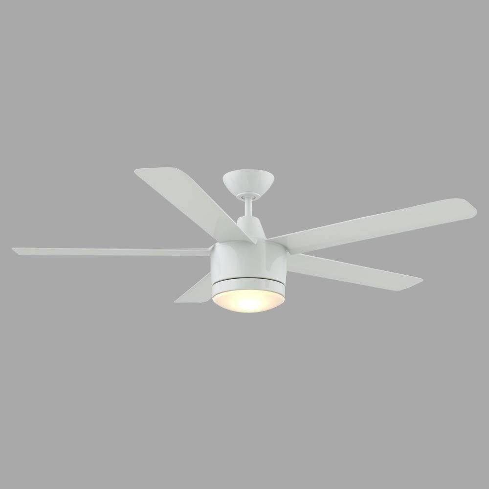 Home Decorators Collection Merwry 52 in Integrated LED Indoor White Ceiling Fan