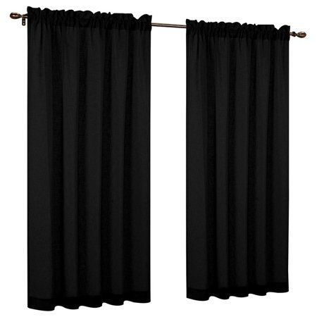 "Urbanest 54"" by 63"" FauxLinen Sheer Set of 2 Curtain"