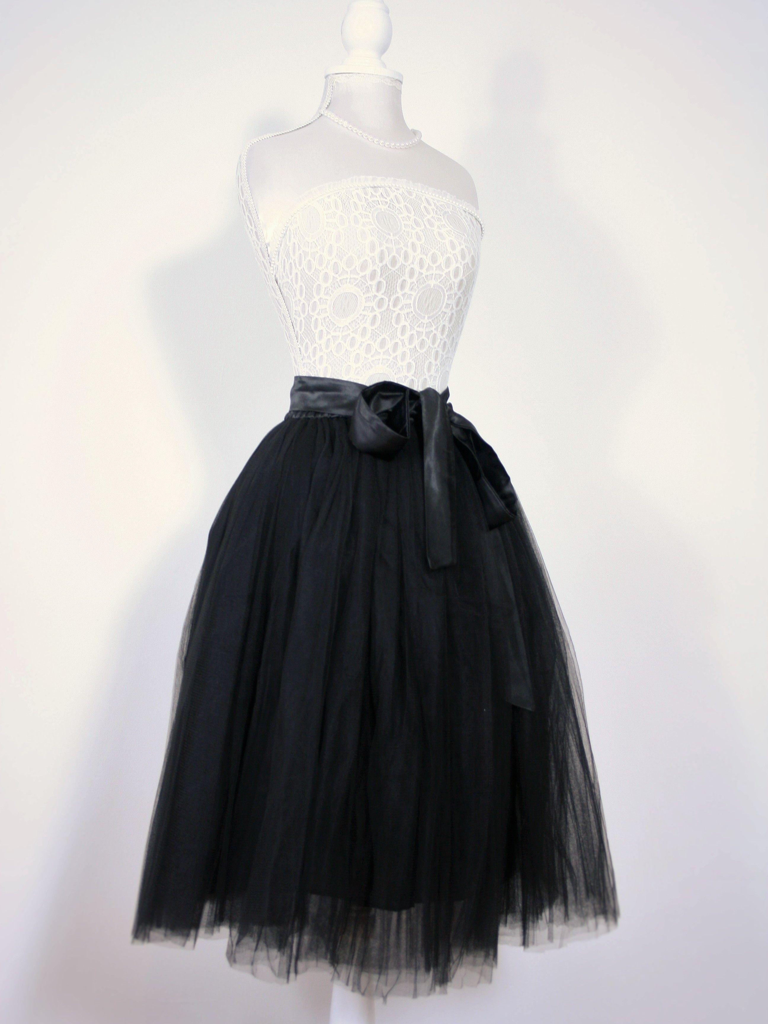 1ef6632cebcc40 Elsie's Attic own label netted tutu skirt! Cute black midi tulle tutu style  skirt.