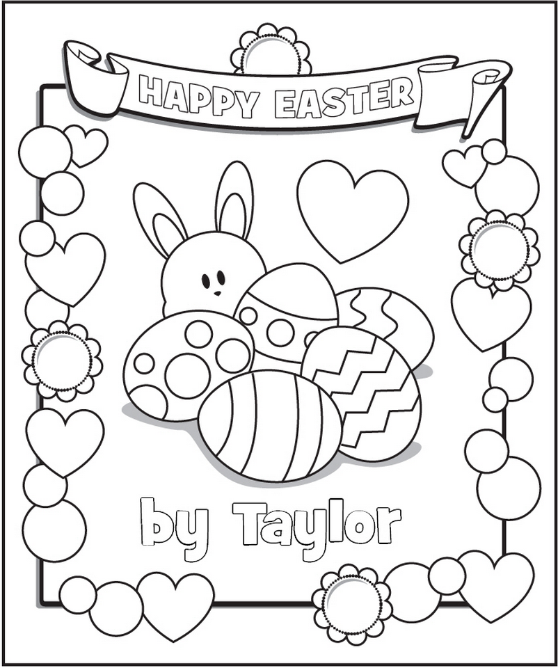 free personalized coloring pages | easter | Frecklebox | Coloring ...