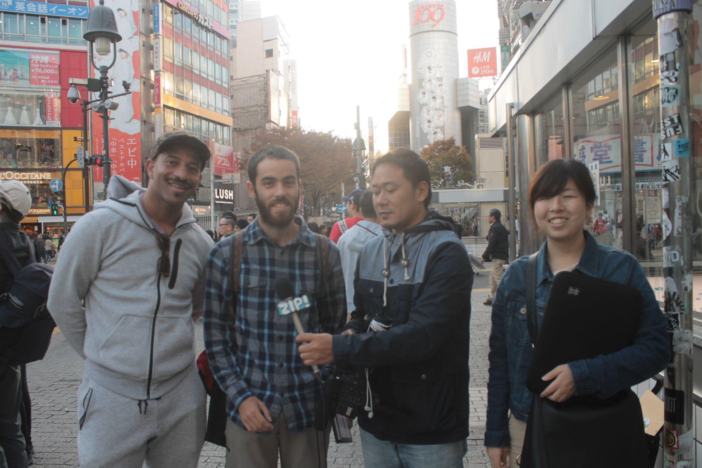 Entrevistado por la tele