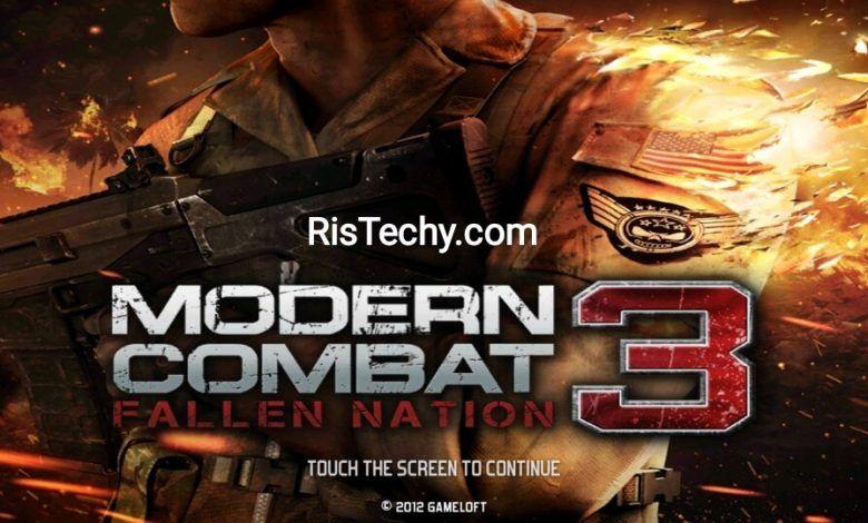 Modern Combat 3 Mod Apk Obb 1 1 4g Fallen Nation In 2020 Best Action Games Gameloft Entertaining Games