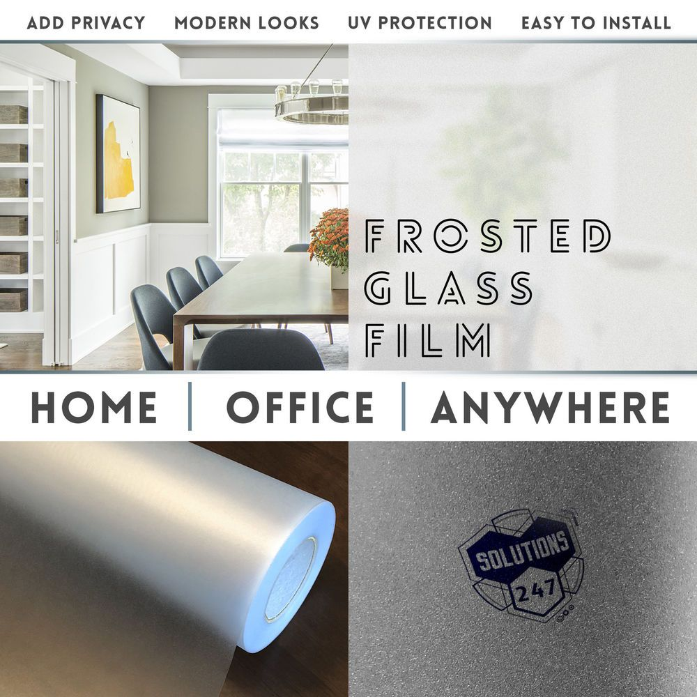 Frosted Glass Film Office Bedroom Bathroom Home Window Tint