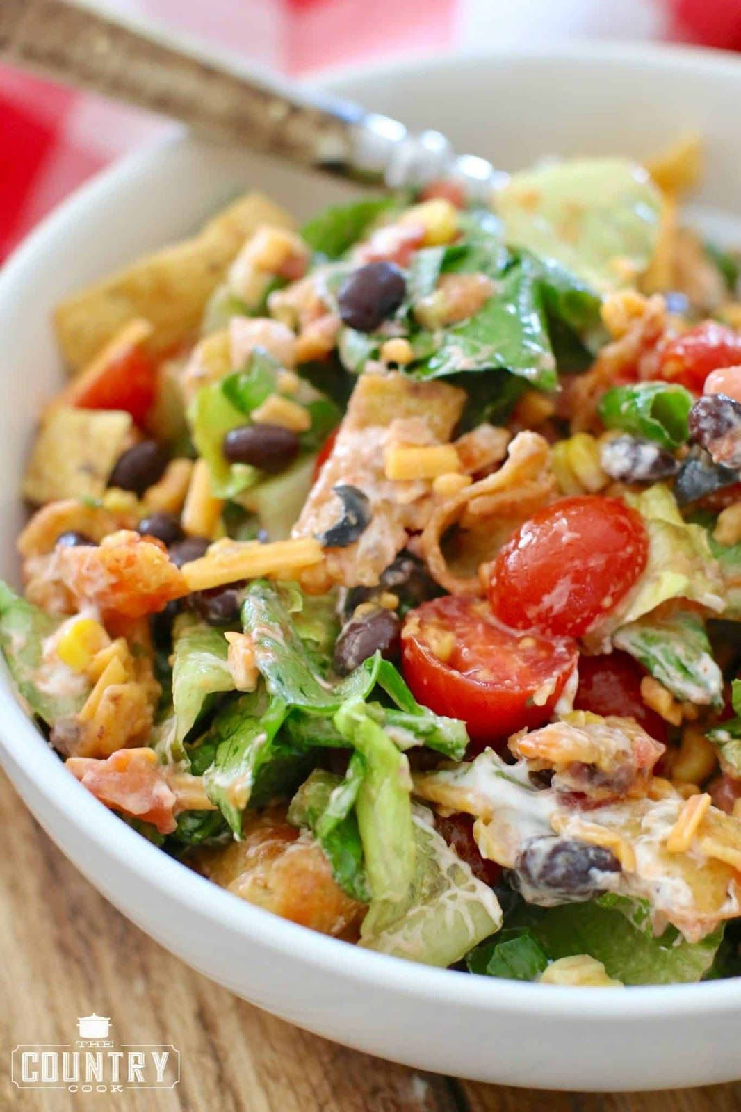 Veggie Frito Taco Salad #salad #vegan #vegetarian #sandwich #easy #tacosalad