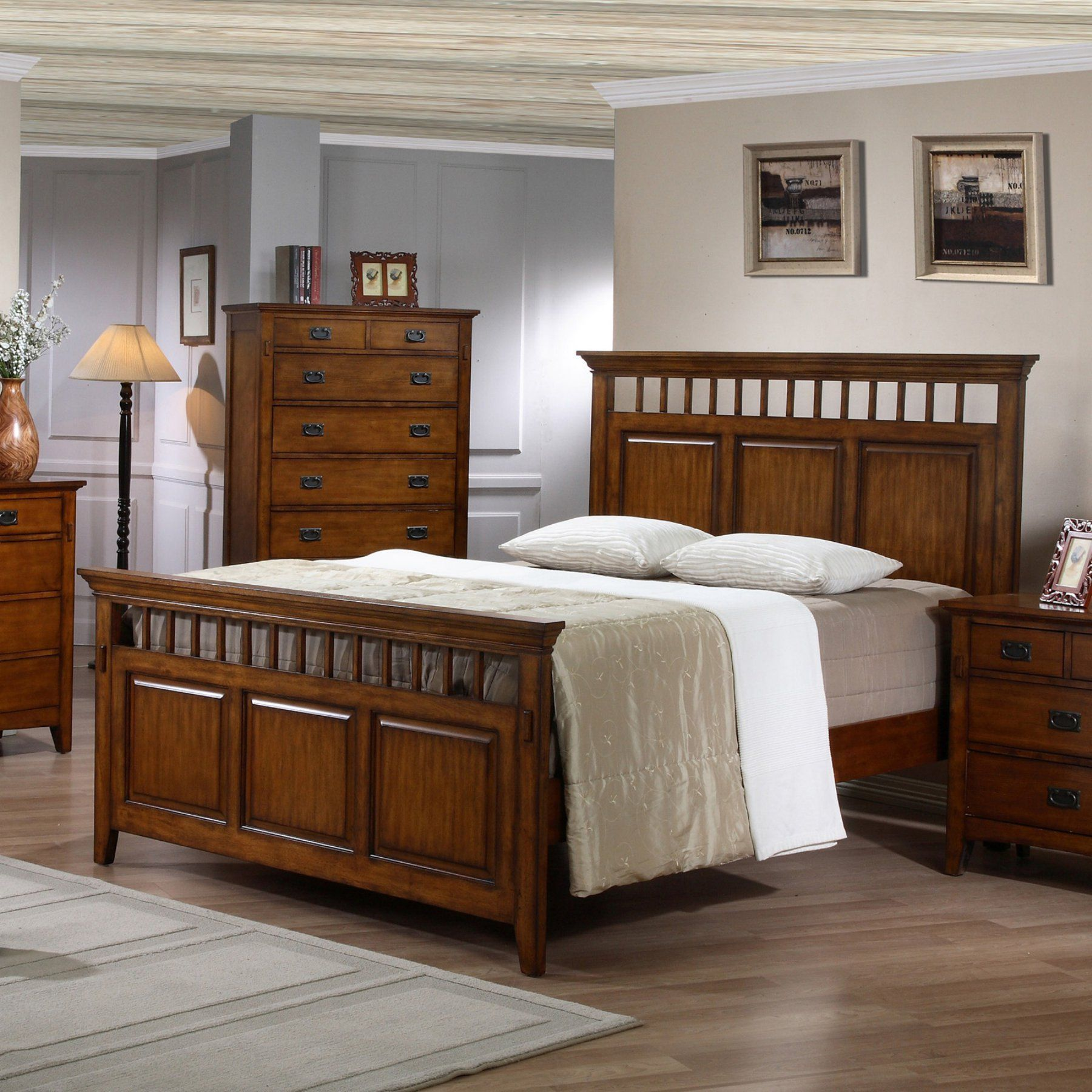 Sunset Trading Tremont Panel Bed - SS-TR900-Q-BED
