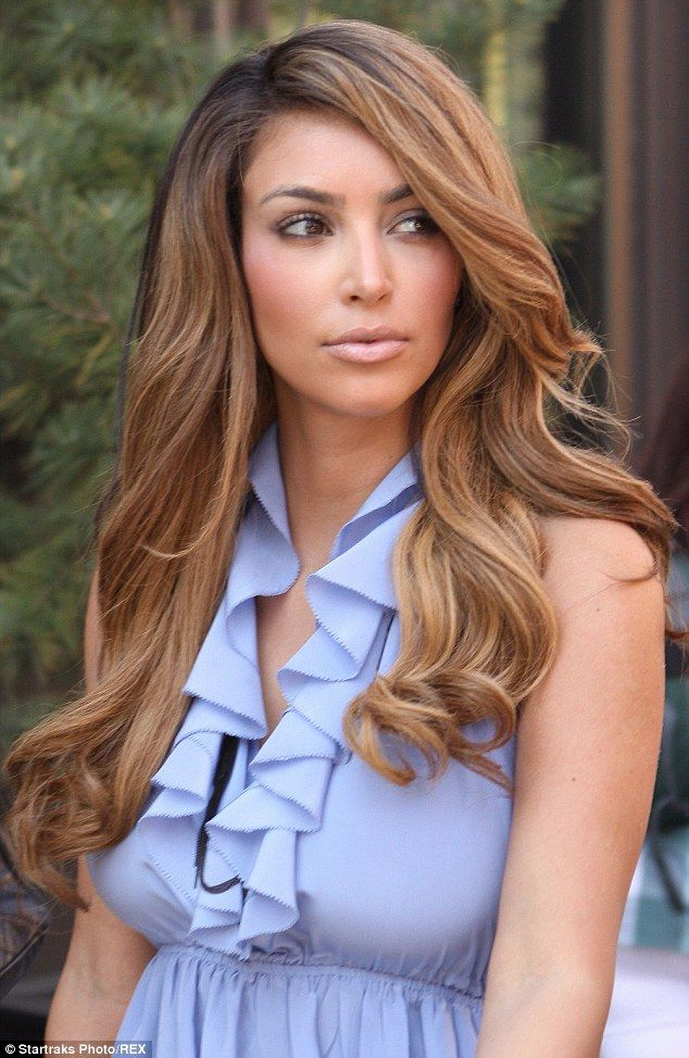 Kim tried lighter locks back in the day when she was seen leaving the Intermix Studio in N...