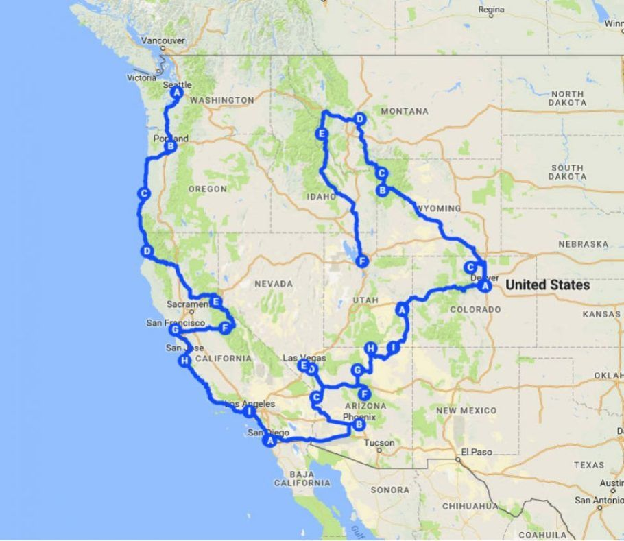 Your Perfect West American Road Trip For 2019 | Travel | Road trip on best historical map, best colorado map, best scotland map, best travel map, best washington map, best road map, best utah map, best house map, best weather map, best new york map, best bike map, best japan map, best usa map, best friends map, best london map, best paris map, best asia map, best florida map, best boston map, best nyc map,