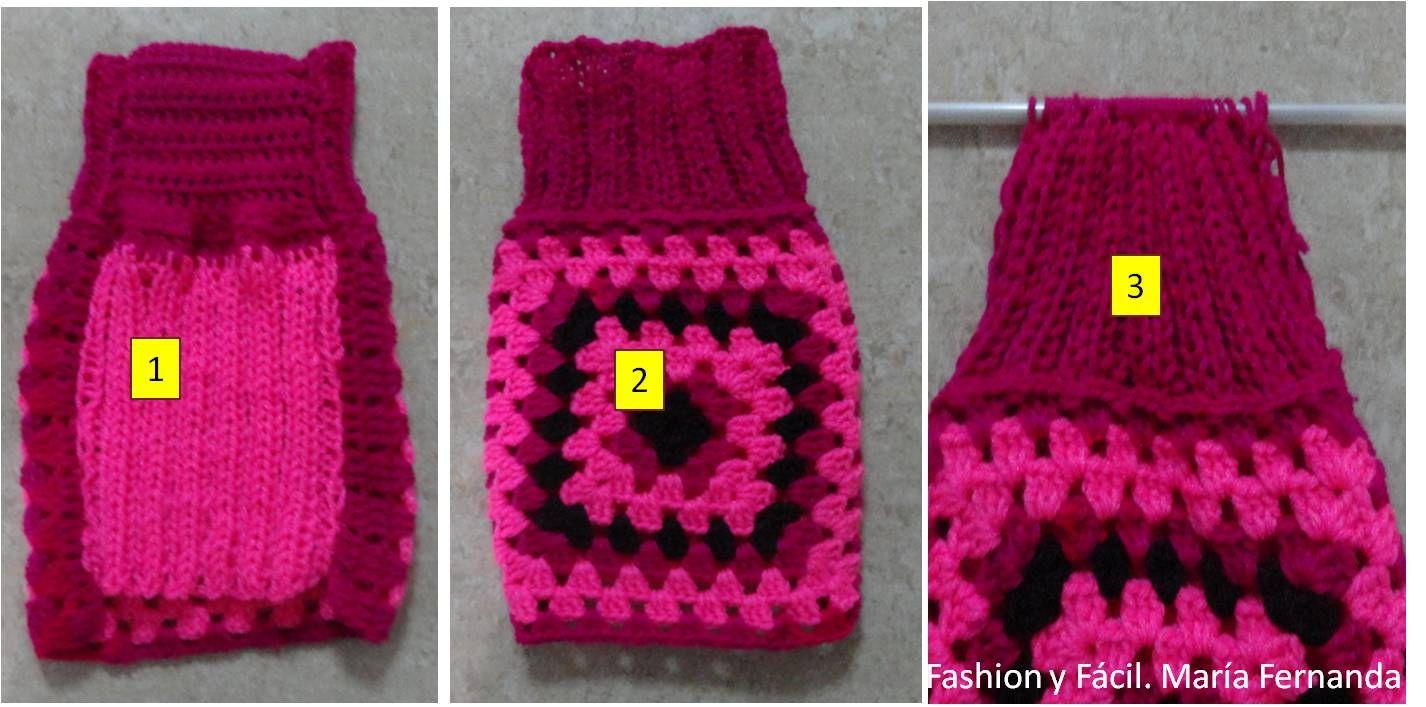 Asombroso Patrón De Crochet Fácil Para Suéter Del Perro Componente ...