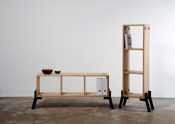 Tonic Sideboard Bookcase Oak Wood Furniture Design