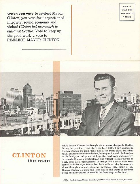Gordon Clinton Mayoral Campaign Brochure   Brochures And Seattle