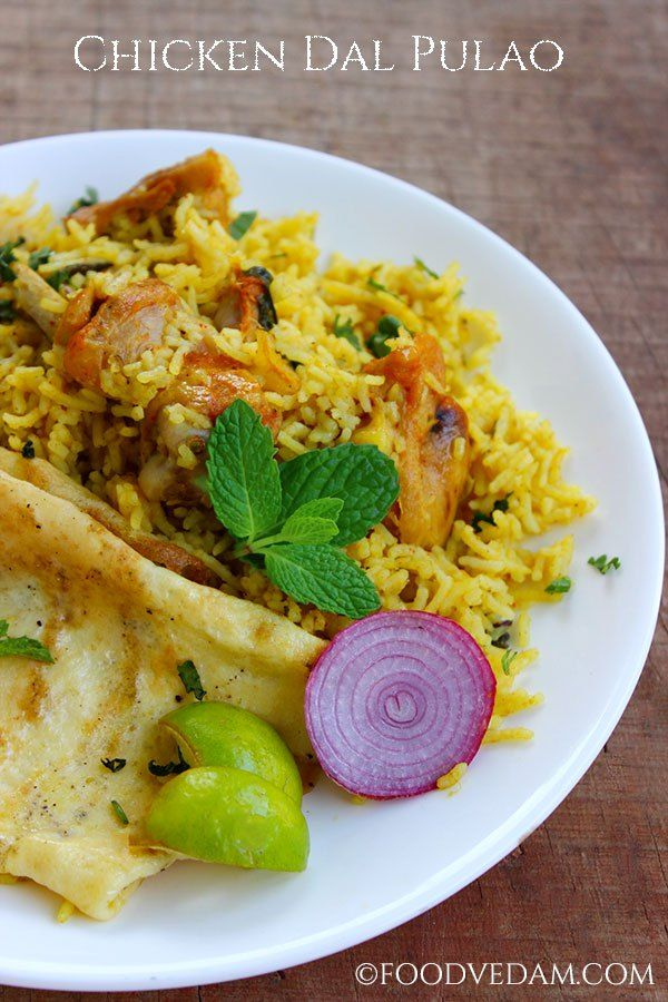 Chicken dal pulao chicken pinterest biryani rice and rice chicken dal pulao thigh pieceindian food recipesrice forumfinder Choice Image
