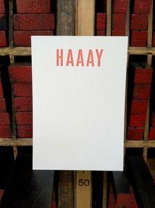 HAAAY notecards // Power and Light Press