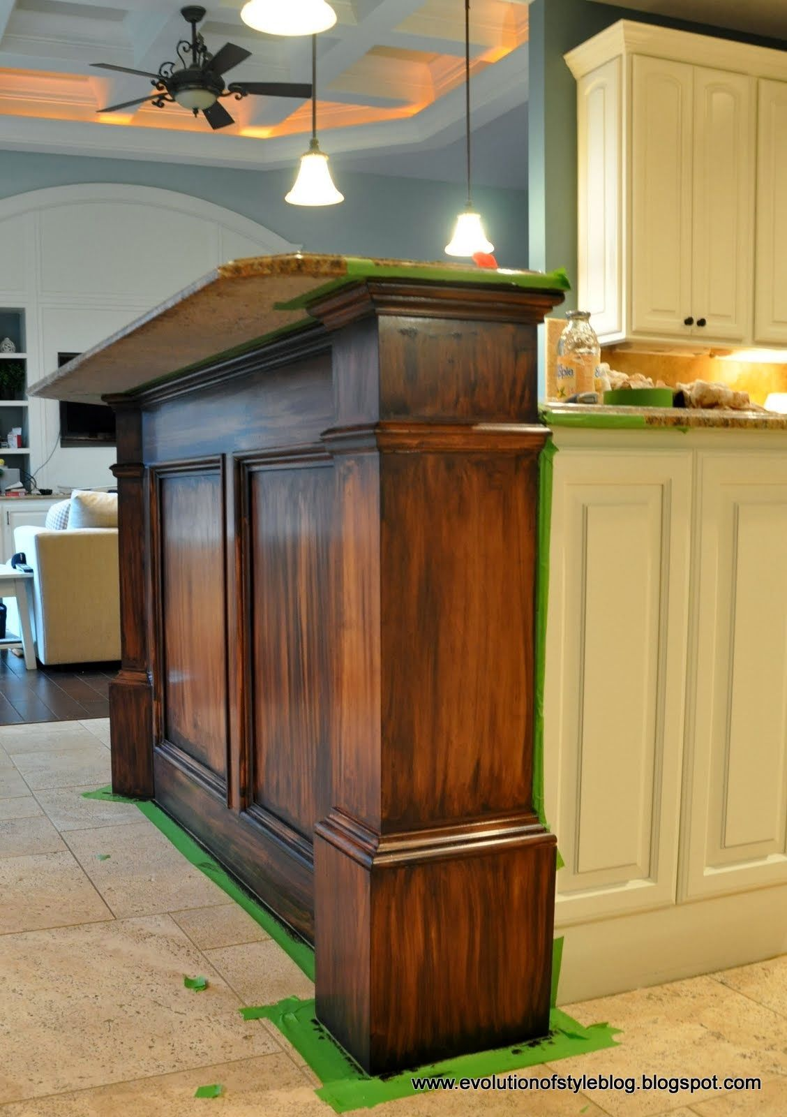 Green Is Truly A Beautiful Color For Your Cooking Areas It Is Lively As Well As Awesome At The Sam Stained Kitchen Cabinets Staining Cabinets Cabinet Makeover