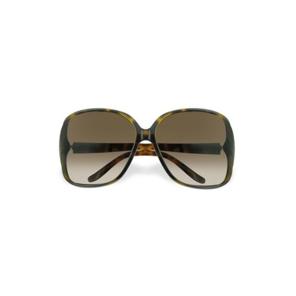 f3af8df4ba3 Gucci Sunglasses Heart Logo Plastic Frame Sunglasses ( 265) ❤ liked on  Polyvore featuring accessories