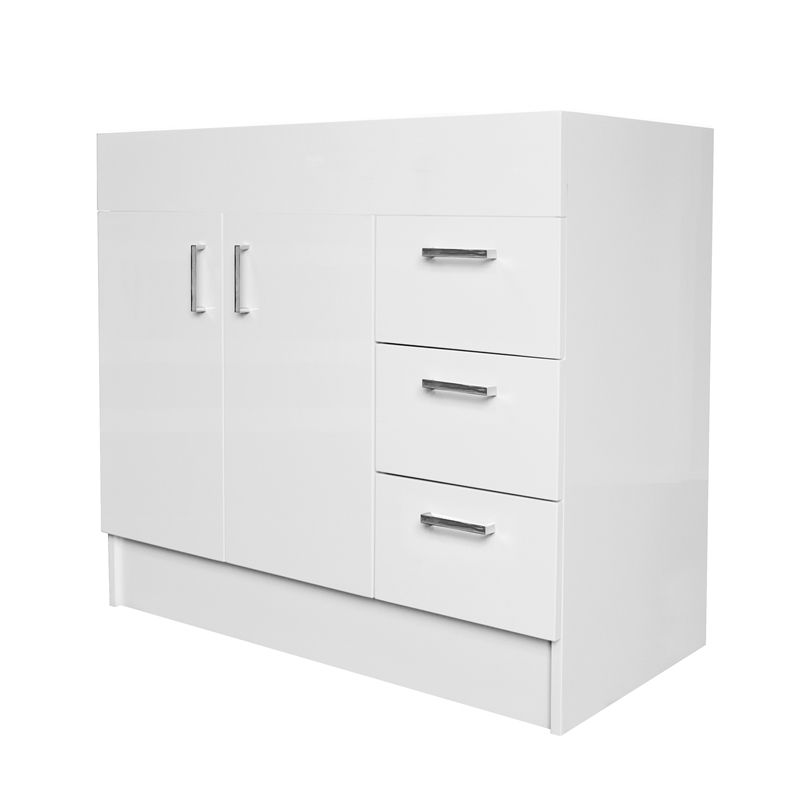 Find Estilo Mm Vinyl Wrap Freestanding Vanity Cabinet Only At - Local bathroom vanities
