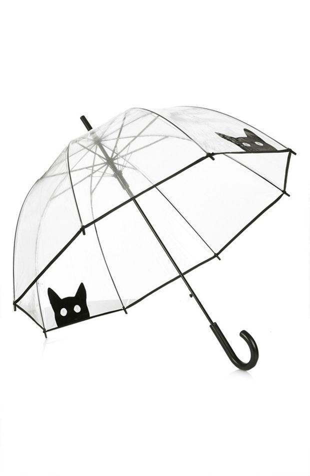 Women's Topshop Cat Umbrella (Brit Pop-In)