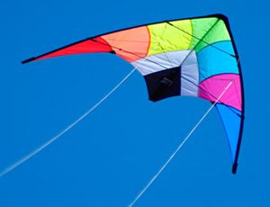 The Brookite Fuji Sport Kite is a Sports from the range manufactured by Brookite.  Colourful,eyecatching Sport kite with fibreglass spars. Speedy but easy to control, this one is ideal for the beginner.    Specification:  Size: 116 x 53 cms  Material: Spinnaker  Frame: Fibreglass  Assembly time: 1 Minute  Twine Strength: 10 Kg  Age: 12 +  Wind Range: 6-25 mph