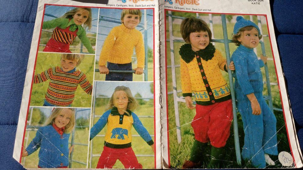 Patons Fun Games In Katie Vintage Knitting Pattern Book 354