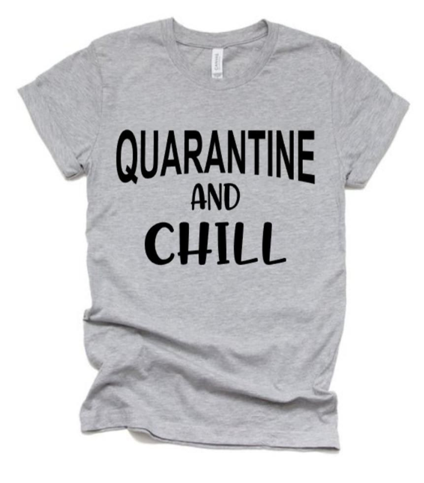 Quarantine and Chill Shirt | Funny Shirts | Funny Quotes | Bella Canvas T Shirt | Youth or Adult - YOUTH S / PURPLE