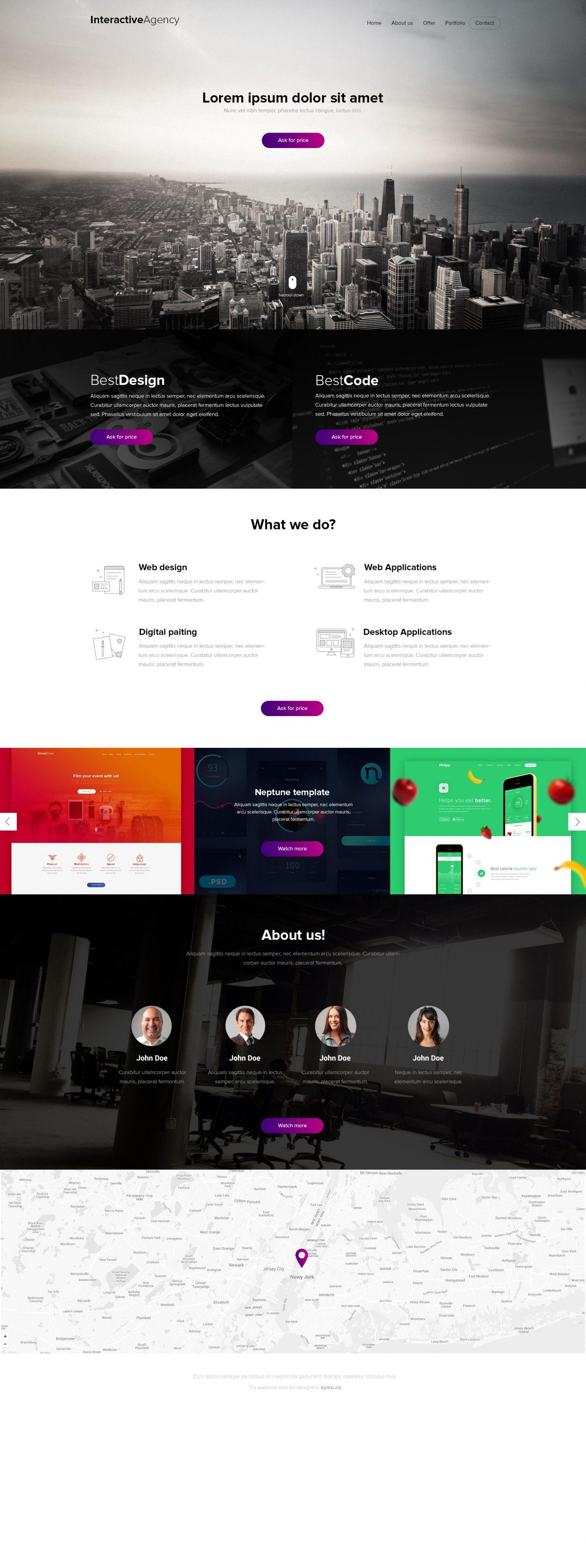 Interactive Agency - PSD template | Web Design Inspiration | Pinterest