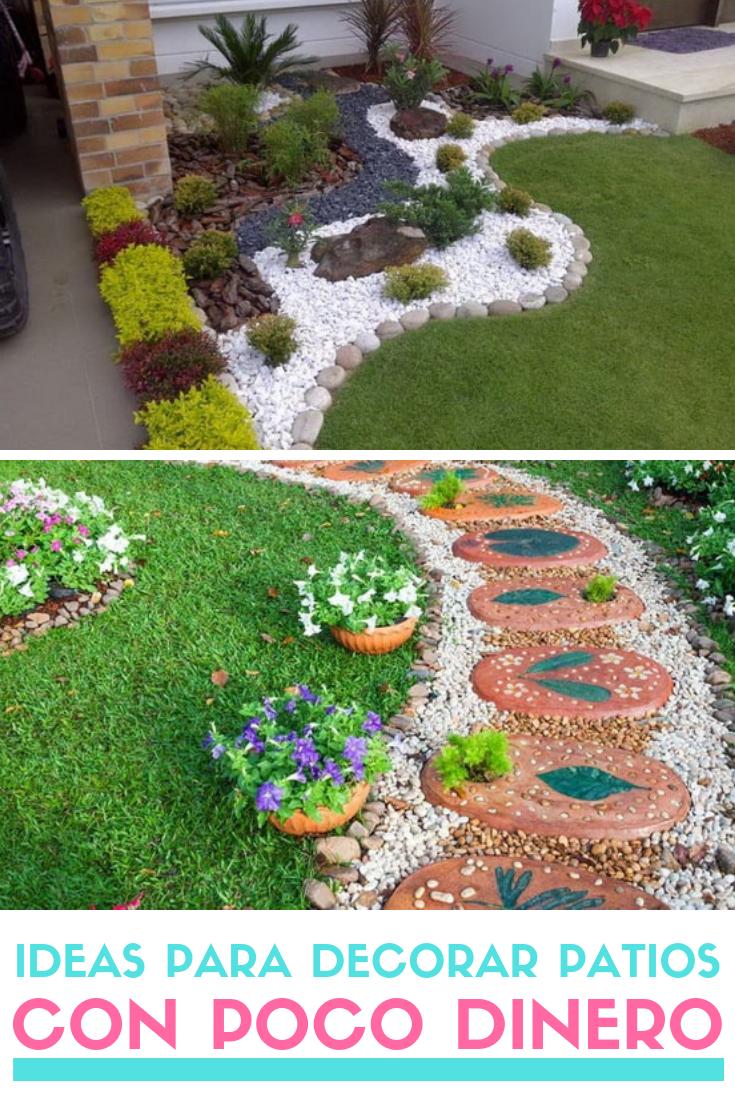 Ideas Para Decorar Patios Con Poco Dinero Decoracion Low Cost Jardin Con Piedras Jardines Decoraciones De Jardin