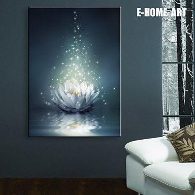 E home stretched led canvas print art white lotus on the water led e homestretchedledcanvasprintartwhite aloadofball Choice Image
