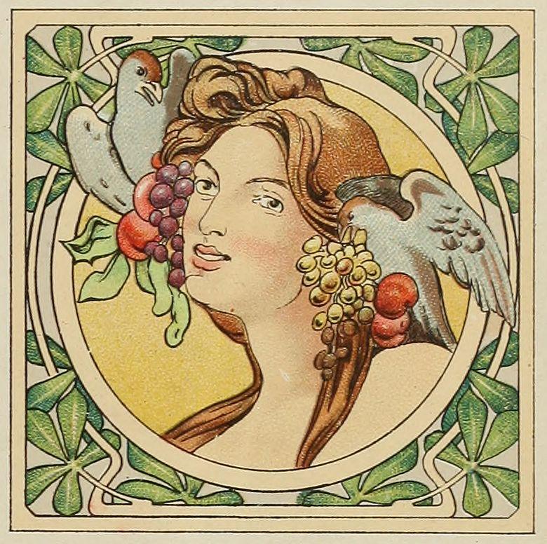 Free Art Nouveau Clip Art | Printout too | Pinterest ...